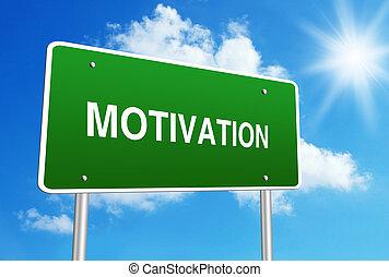 Motivation road sign