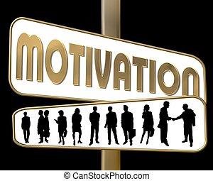 motivation, straße, gold, zeichen