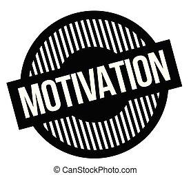 Motivation typographic stamp