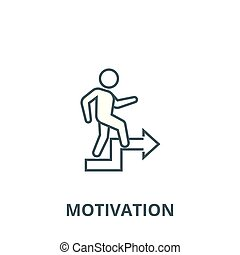 Motivation, way of life vector line icon, linear concept, outline sign, symbol