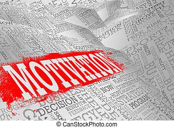 Motivation word cloud business concept