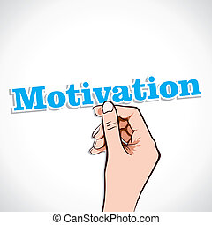 Motivation Word In Hand