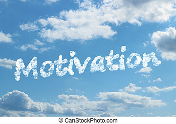 Motivation word on cloud