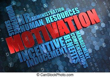 motivation., wordcloud, concept.