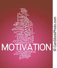 motivation, wort, wolke