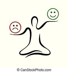 motivation, yoga, pensée, positif, pose, négatif, inspiration