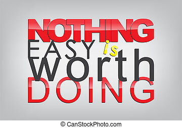 Motivational Background - Nothing easy is worth doing....
