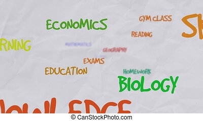Motivational colored word cloud about school