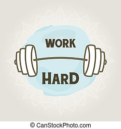 Motivational dumbbell poster for gym wall