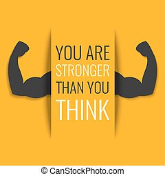 Motivational fitness poster - You are stronger than you...