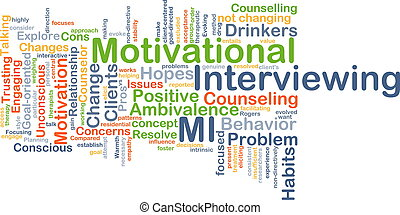 Motivational interviewing background concept - Background...