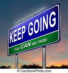 Motivational message. - Illustration depicting an...