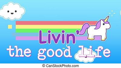 Motivational phrase for kids 4k - Digital animation of a ...