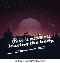 Motivational poster with nature background - Pain is...