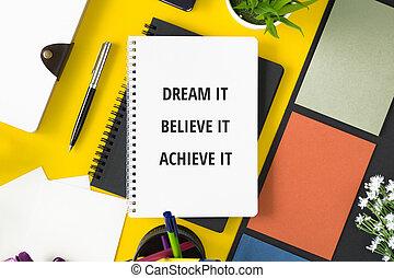 motivational, quote., anteckningsbok
