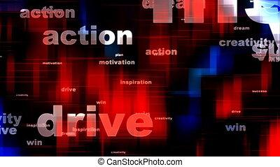 motivational, woorden, achtergrond, twee