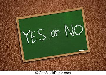 motivational, woorden, concept, ja, of, nee