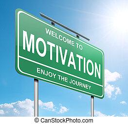 motivazione, concept.