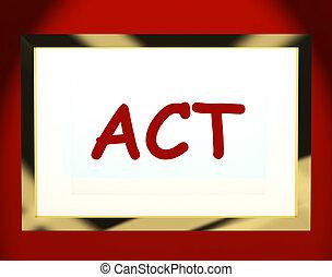 motivazione, schermo, compiendo, atto, mostra, o, ispirazione