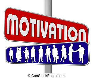 motivazione, segnale stradale