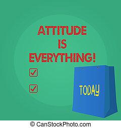 motivazione, testo, esposizione, ottimismo, segno, atteggiamento, importante, everything., foto, concettuale, succeed., ispirazione