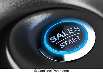 motivazione, vendite, affari, bottone