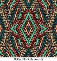 motivi, geometrico, patchwork, fondo, .eps, wthnic