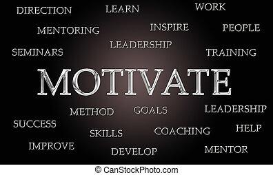 motivieren, wort, wolke