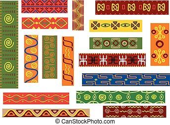 motivo, padrão, tribal, africano, étnico, geomã©´ricas
