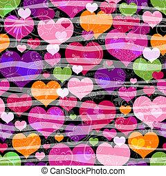 Motley seamless valentine pattern - Motley seamless pattern ...