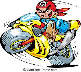moto, champion, jeune