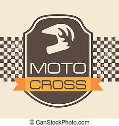 moto cross design over pink background vector illustration