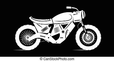 icon fahrrad caf racer moto aufkleber emblem. Black Bedroom Furniture Sets. Home Design Ideas