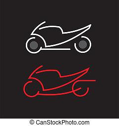 moto, icône
