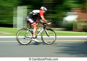 moto macchiato, corsa bicicletta