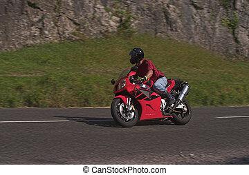 moto, montañismo