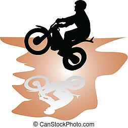 moto rider black vector silhouette illustration