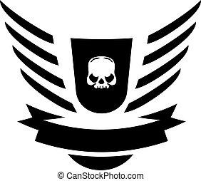 Moto Skull Vector Logo Symbol