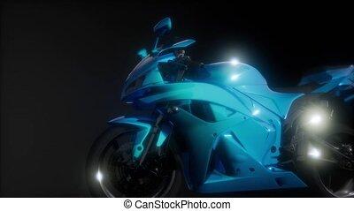 moto, sport, bicikli, alatt, sötét, műterem, noha, világos...