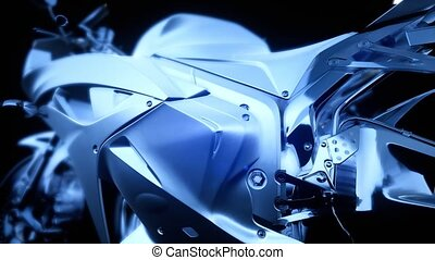 moto, vélo, sport, studio