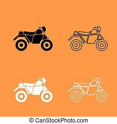 motocicleta, ícone, atv, quatro, rodas