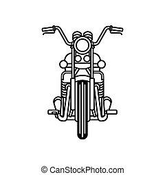 motocicleta, ícone
