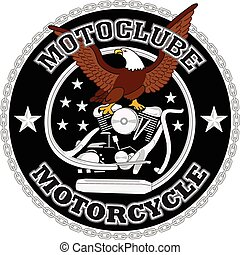 motocicleta, biker, correndo, vetorial, desenho
