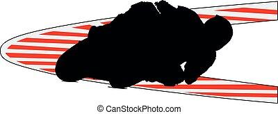 motocicleta, ciclista, turn., superbike, amarillo, seguridad, motogp, biker, súper, deportes, carrera, sideline., moto., carreras, curva, pista, motor
