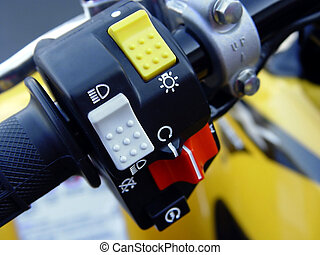motocicleta, controles