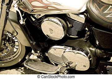 motocicleta, glamor