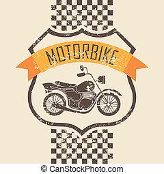 motocicleta, icono