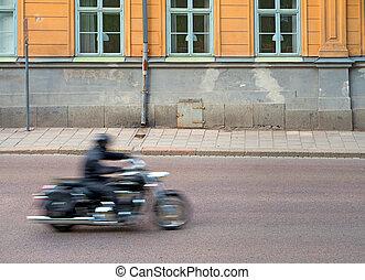 motocicleta, obscurecido