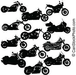 motocicleta, paquete
