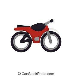 motocicleta, vermelho, veículo